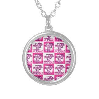 Hot Pink Purple Flower Bouquet in Vase Pop Art Mos Custom Jewelry