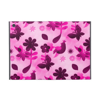 Hot Pink Purple Flowers Birds Butterflies Floral iPad Mini Case