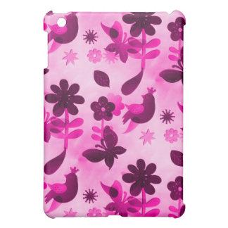Hot Pink Purple Flowers Birds Butterflies Floral iPad Mini Cases