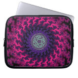 Hot Pink Purple Fractal Celtic Knot Laptop Sleeve