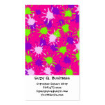 Hot Pink Purple Lime Green Paint Splatters Splotch Business Cards