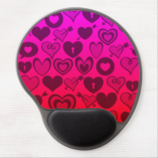Hot Pink Purple Ombre Hearts Valentines Day Gifts Gel Mousepads