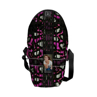 Hot Pink Purple Replace Image Courier Bag