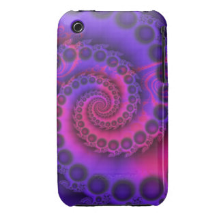 Hot Pink & Purple Spiral iPhone 3 3G/3GS case