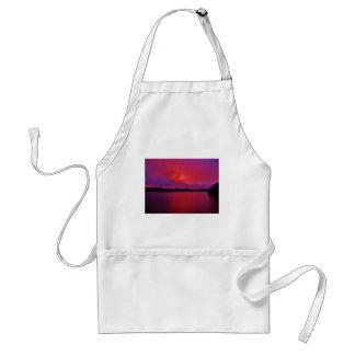 Hot Pink Purple sunset on Lake Arrowhead Adult Apron