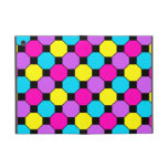 Hot Pink Purple Teal Yellow Black Squares Hexagons Covers For iPad Mini