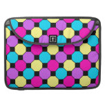 Hot Pink Purple Teal Yellow Black Squares Hexagons Sleeves For MacBooks
