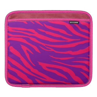 Hot Pink Purple Zebra Print Animal iPad Sleeve