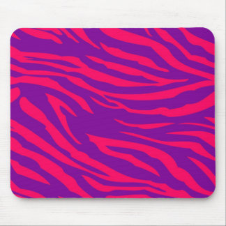 Hot Pink Purple Zebra Print Personalized Mousepad
