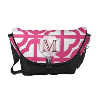 Hot Pink Quarterfoil Monogram Bag Tote Purse Courier Bags