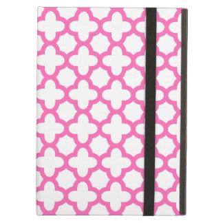 Hot Pink Quatrefoil Pattern Case For iPad Air
