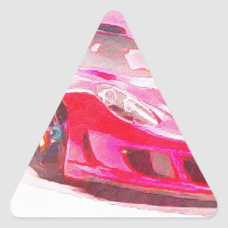 Hot Pink Racer Triangle Sticker