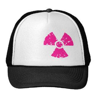 Hot Pink Radioactive sign Trucker Hat