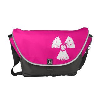 Hot Pink Radioactive sign Messenger Bag