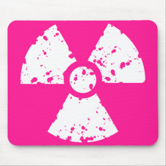 Hot Pink Radioactive sign Mouse Pad
