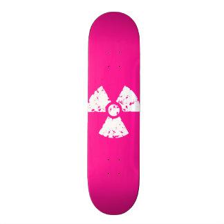 Hot Pink Radioactive sign Skate Boards
