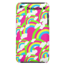 Hot Pink Rainbow Pattern Barely There iPod Cover