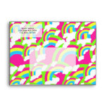 Hot Pink Rainbow Pattern Envelopes