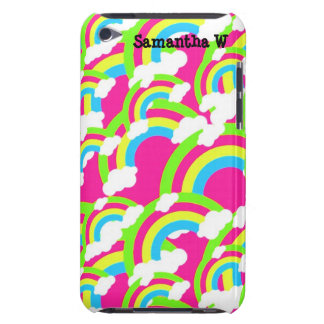 Hot Pink Rainbow Pattern iPod Touch Covers
