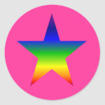 hot pink rainbow star stickers