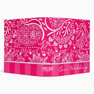 Hot Pink Raspberry Wedding Memory Album 3 Ring Binder