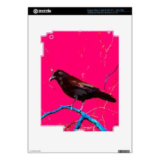 Hot Pink Raven Crow iPad 3 Decals