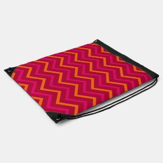 Hot Pink Red And Orange Chevron Pattern Zigzag Bag