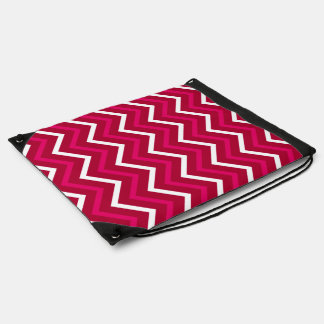Hot Pink Red And White Chevron Pattern Zigzag Bag