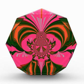 Hot Pink Red Golden Green Award
