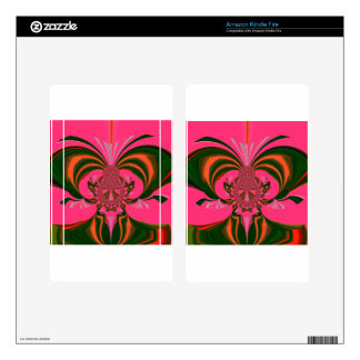 Hot Pink Red Golden Green Kindle Fire Skin