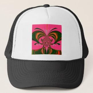 Hot Pink Red Golden Green Trucker Hat