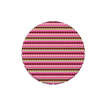 Aztec Themed Hot Pink Red Mint and Black Tribal Style Pattern Jelly Belly Candy Tins