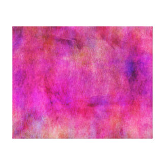 Hot Pink Red Watercolor Background Canvas Print