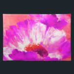 """Hot Pink &amp; Red Watercolor Flowers Cloth Placemat<br><div class=""""desc"""">A nice pattern for her</div>"""