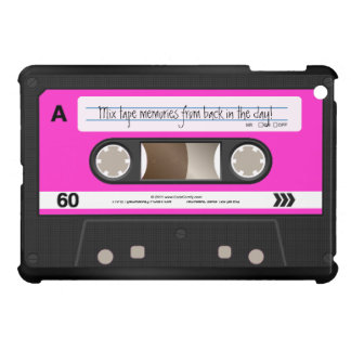 Hot Pink Retro Cassette Tape Personalized Cover For The iPad Mini