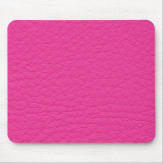 Hot Pink Retro Grunge Custom Leather Mouse Pad
