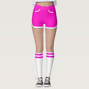 Halloween Themed Hot Pink Retro Short Tube Socks Leggings