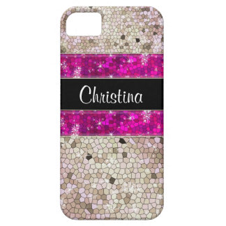 Hot Pink Rhinestone Glitter Bling Diamond Sequins iPhone SE/5/5s Case
