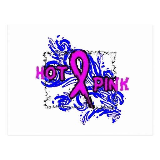 Hot Pink Ribbon Postcard
