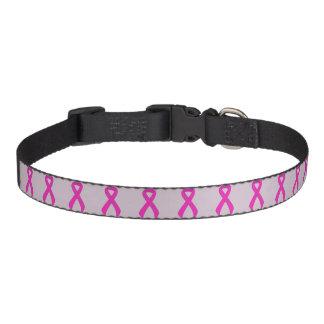 Hot Pink Ribbon Support Awareness Dog Collars