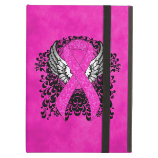 Hot Pink Ribbon with Wings iPad Air Cover