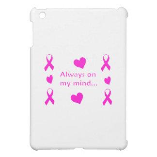 Hot Pink Ribbons & Hearts iPad Mini Covers