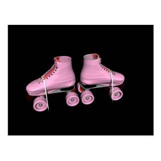 Hot Pink Roller Skates Postcard
