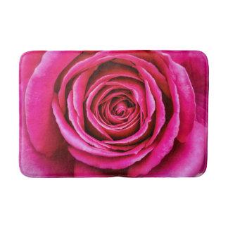 Hot Pink Rose Bathroom Mat