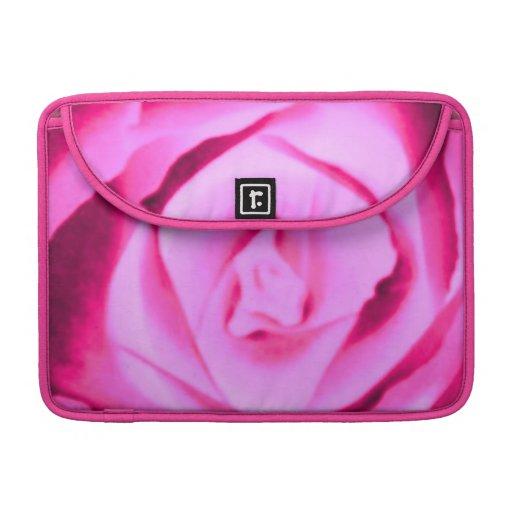 Hot Pink Rose Floral Macbook Pro Flap Sleeve