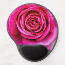 Hot Pink Rose Gel Mouse Pad