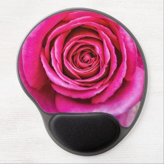 Hot Pink Rose Gel Mouse Pad