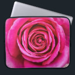 "Hot Pink Rose Laptop Sleeve<br><div class=""desc"">A closeup of a large,  hot pink,  fragrant English rose. Unfortunately,  photography cannot capture scent.</div>"