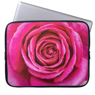 Hot Pink Rose Laptop Sleeve