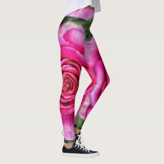 Hot Pink Rose Leggings